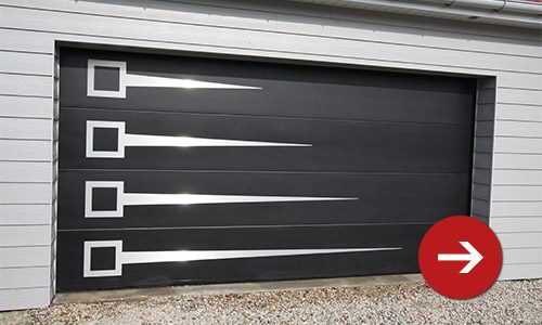 Portes de garage sectionnelles refoulement plafond smf for Hublot porte garage sectionnelle