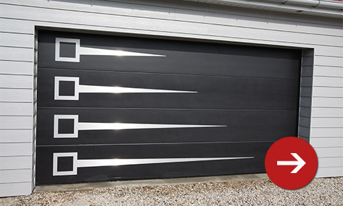 Porte de garage sectionnelle 40mm isolante smf services - Porte de garage industrielle occasion ...