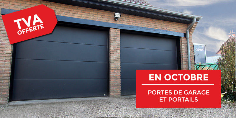 Promo portes de garage et portails tva offerte smf for Promotion porte de garage sectionnelle